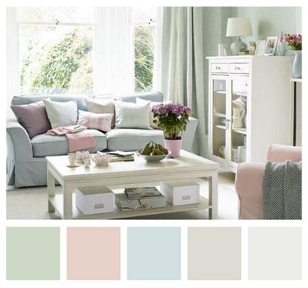 ¡Los colores pasteles son ideales para decorar!